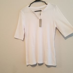 White Cable & Gauge women's top